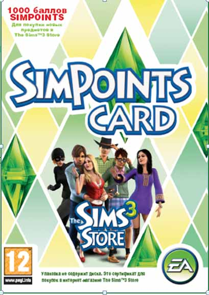 The Sims 3 SimPoints CARD (1000 баллов)